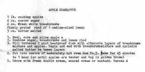 apple charlotte recipe